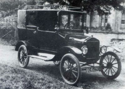 Skelton of Scunthorpe, Model T Ford c.1920. Scunthorpe's first covered taxi
